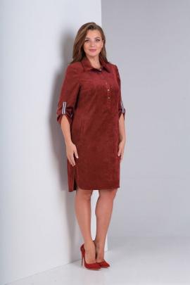 Платье Basagor 457 терракот