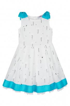 Платье Bell Bimbo 181071 набивка/бирюза