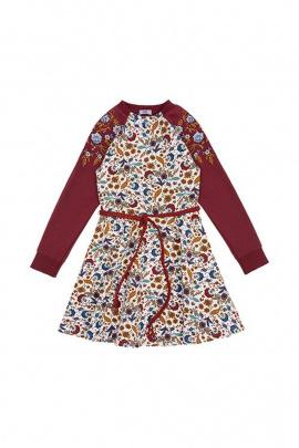 Платье Bell Bimbo 172184 набивка/бордо