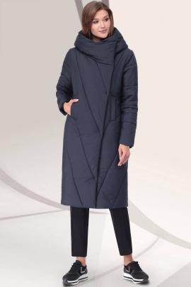 Пальто LeNata 11043 темно-синий