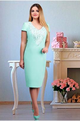 Платье Tensi 221 1_бирюзовый