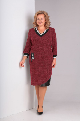 Платье Basagor 549 бордо