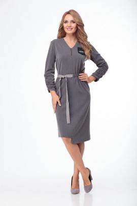 Платье Anelli 777 серый