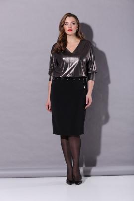 Платье Karina deLux B-230 черный-графит