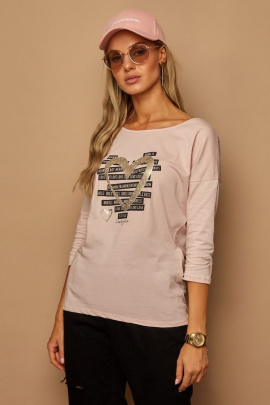 Блуза Lamajka L9240 пудровый