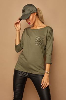 Блуза Lamajka L9246 оливковый