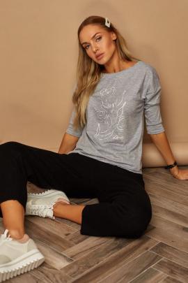 Блуза Lamajka L9259 светло-серый