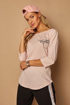 Блуза Lamajka L9262 пудровый