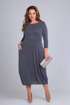 Платье Shetti 1007 синий/полоска