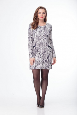 Платье Anelli 192 синий-белый
