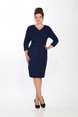 Платье Angelina 483 темно-синий