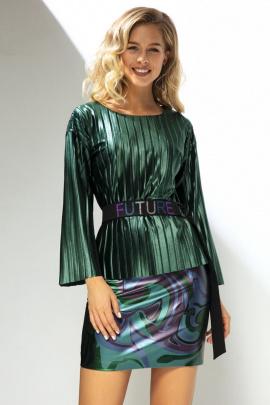 Блуза, Юбка LaVeLa L40004 зеленый/черный