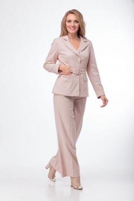 Женский костюм Anelli 783 бежево-розовый