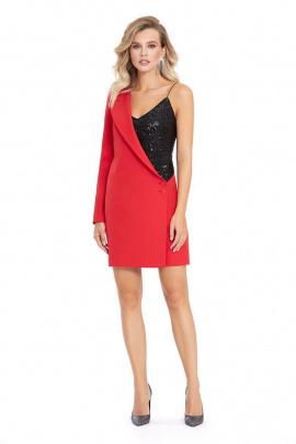 Платье PiRS 870 красный-черный