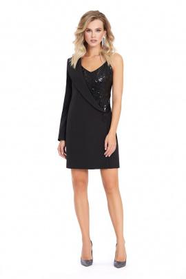 Платье PiRS 870 черный-пайетки