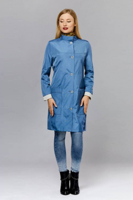 Плащ Arisha 8022-1 серо-голубой