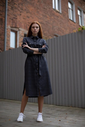 Платье Individual design 19133 т.серый