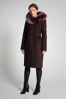 Пальто Gotti 166-3м бордовый