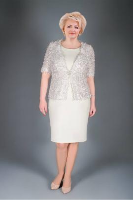 Жакет, Платье Manklover 915 бежевый