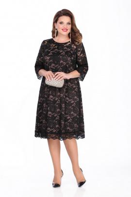 Платье TEZA 249 черный-светлый
