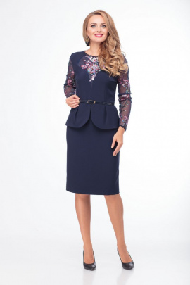 Платье Anelli 779 синий+розовый