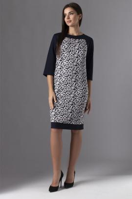 Платье VIZAVI 613 темно-синий/молоко