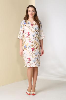 Платье Golden Valley 4382 бежевый_в_цветы