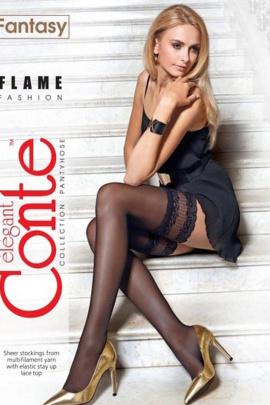 Чулки Conte Elegant Elegant_Flame_1/2_Nero