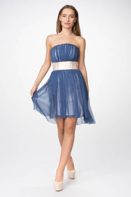 Платье Lejole 1319 кор.синий