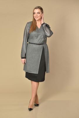 Женский костюм Lady Style Classic 2024 серый-черный