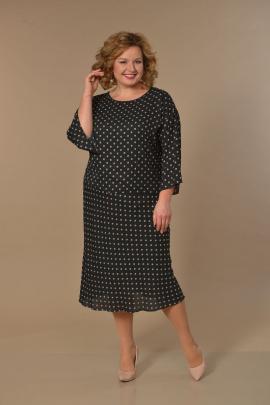 Туника, Платье Lady Style Classic 1640 черный-бежевый