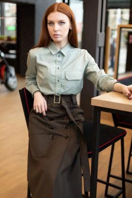 Юбка Individual design 19132 шоколадный