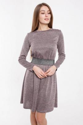 Платье Madech 205349 розовый,серый,серебристый