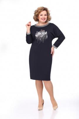Платье Мишель стиль 815 темно-синий