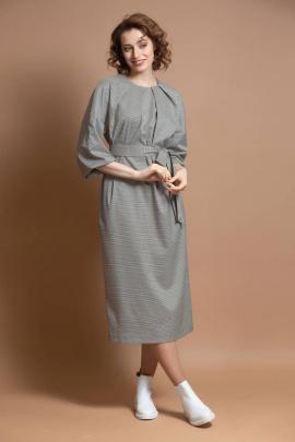 Платье Ivera 763 белый, хаки, коричневый