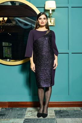 Платье Faufilure outlet С1023 фиолетовый