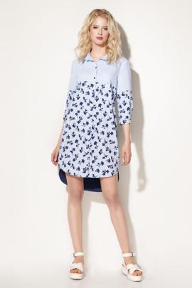 Платье Prio 704080 сине-голубой