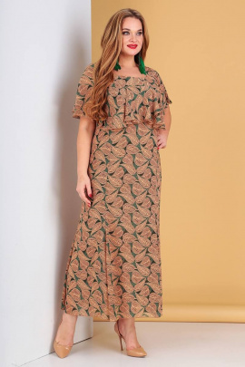 Платье Liona Style 485 зеленый