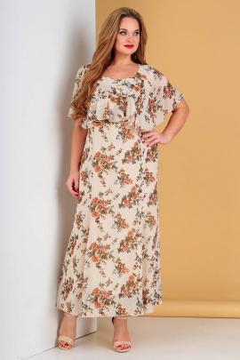 Платье Liona Style 485 молочный