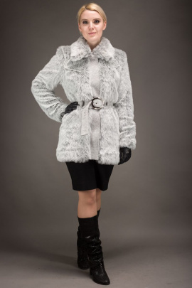 Шуба Зима Фэшн 411-7-28 серый