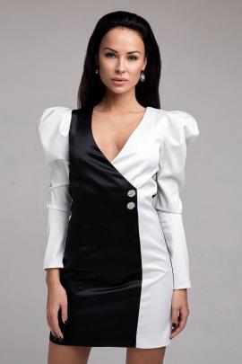 Платье JKY DO-006 черно-белый