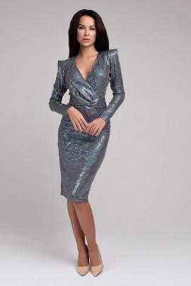 Платье JKY DO-005 серебро