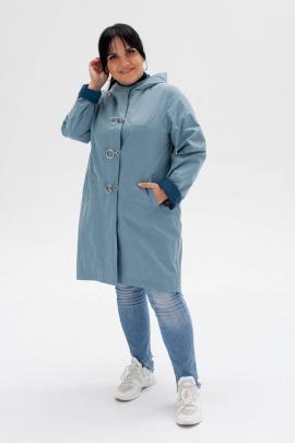 Плащ Bugalux 806 164-серо-голубой/изумруд