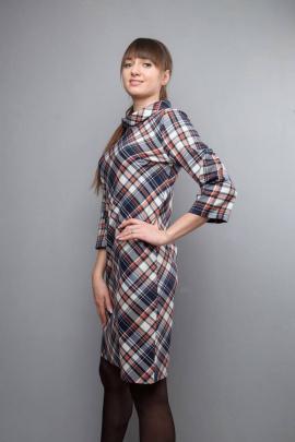 Платье Mita ЖМ1017 клетка-светлая