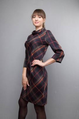 Платье Mita ЖМ1017 клетка-темная