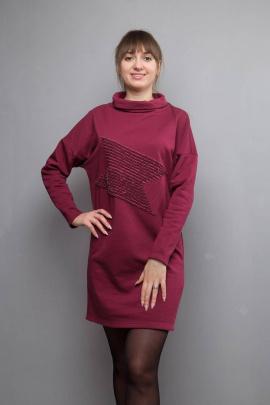 Платье Mita ЖМ1021 бордо