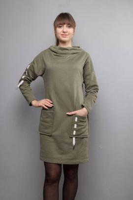 Платье Mita ЖМ1031 хаки
