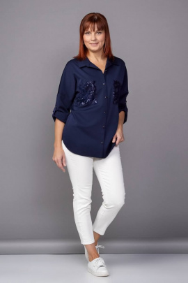 Рубашка Соджи 395 темно-синий