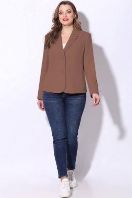Жакет LeNata 11862 коричневый