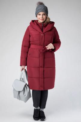 Пальто ElectraStyle 5у-7133-112 винный